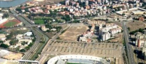 Lo stadio Sant' Elia di Cagliari
