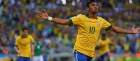 Neymar forte attaccante del Brasile