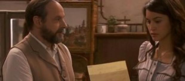 Pepa riceve il telegramma da Zamalloa.
