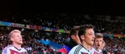 l'esultanza tedesca per il 2° goal