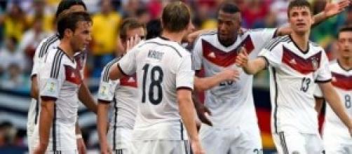 La Germania festeggia dopo un gol