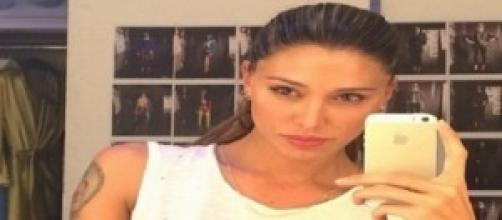 Belen Rodriguez gioisce per l'Argentina