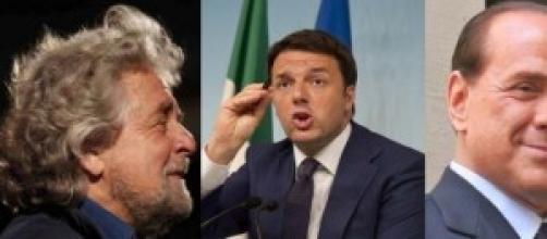 Riforme, Senato: Grillo, Renzi, Berlusconi