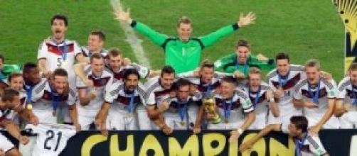 Germany celebrate winning World Cup