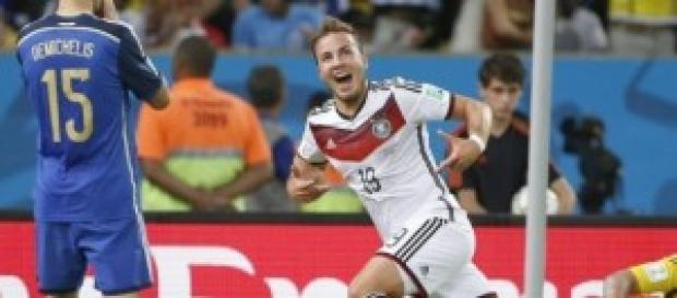 Mario Gotze autor del único gol de la final