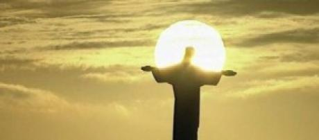 Christ the Redeemer at sunset during 2014 final