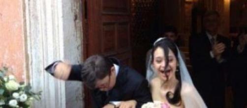 Marta e Mauro felici il giorno delle loro nozze