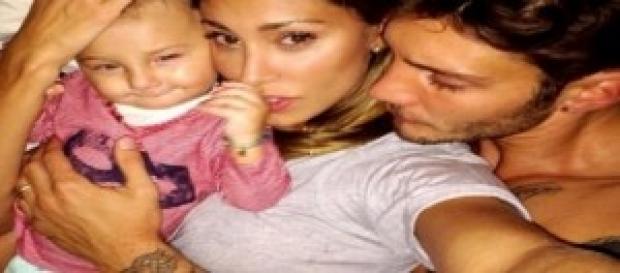 Belen felice con la sua famiglia