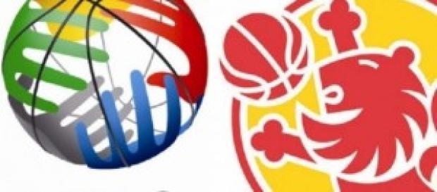 Logos de FIBA y FEB que organizan el Mundobasquet.