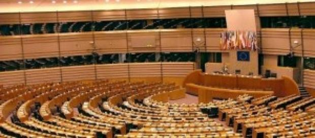UE, l'emiciclo della Commissione Europea
