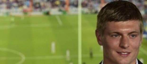 Kroos en su presentación con el Real Madrid