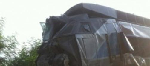 Le TGV accidenté jeudi 17 juillet.