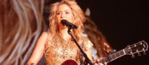 Shakira en un concierto en el año 2010