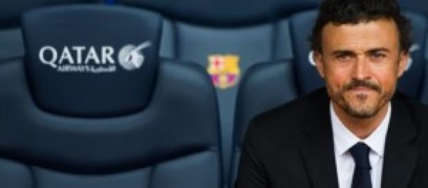 Luis Enrique en el banquillo del FC Barcelona
