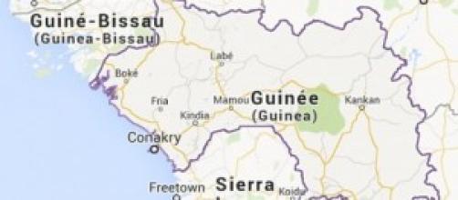 une carte de la République de  Guinée