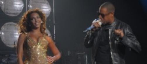 La diva y el rapero en un concierto en directo