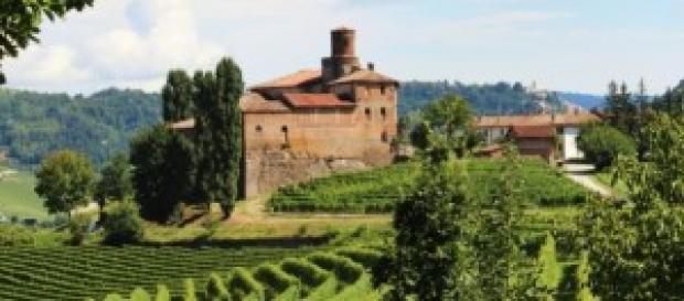 Veduta d'insieme delle colline e dei castelli