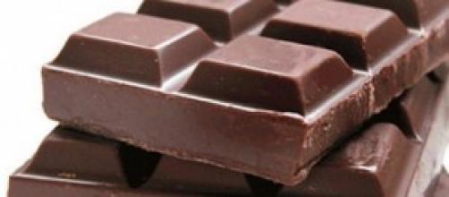 Detalle de tabletas de chocolate.