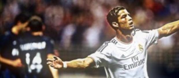 Cristiano en una jugada frente al Inter.