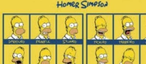 Homer Simpson il protagonista del cartoon comico