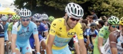 Vincenzo Nibali et Jean-Christophe Péraud