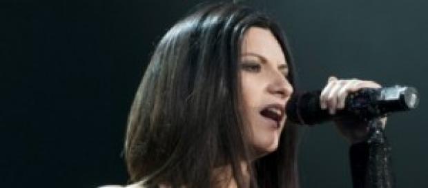 Laura Pausini, durante un concerto