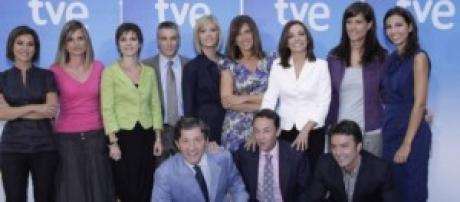 Periodistas de los informativos de TVE