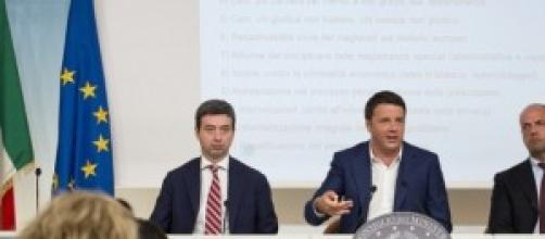 Renzi, Orlando e Alfano su riforma giustizia 2014