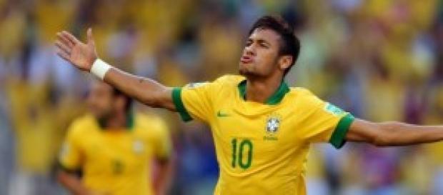 Neymar, jugador estrella de la selección de Brasil