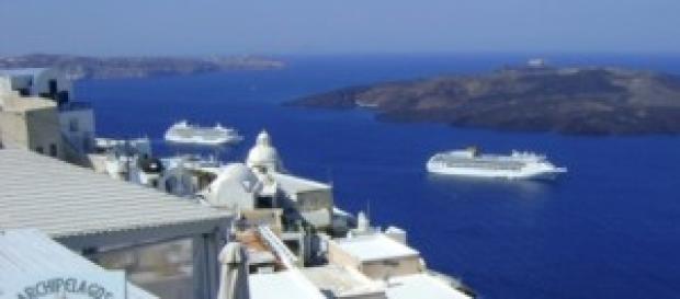 Una splendida veduta del mare della Grecia.