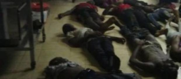 Les corps des victimes de la bousculade