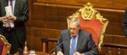 il presidente del senato : Pietro Grasso.