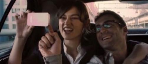 """Keira Knightley y Adam Levine en """"Begin again"""""""