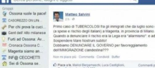 Profilo Facebook di Matteo Salvini