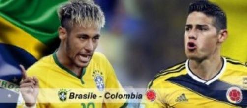 I numeri 10 Neymar e James Rodriguez
