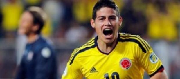 James Rodríguez celebra uno de sus goles