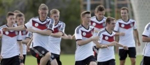 Germania in allenamento, sfiderà il Brasile