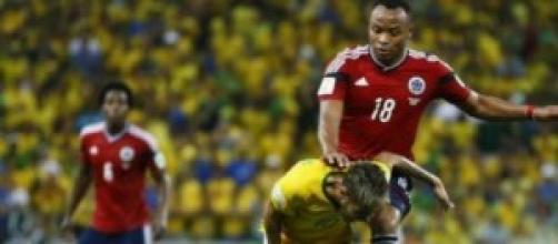 L'entrata di Zuniga su Neymar