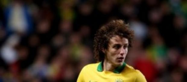 David Luiz  autor del segundo gol de Brasil