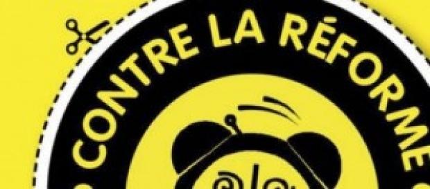 logo de l'un des groupes contre la réforme