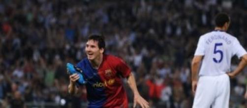 Messi hace su presentación en la gran pantalla