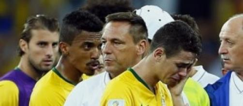 Brazil players distraught following defeat