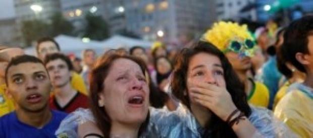 Brasil llora la derrota. Foto: larepublica.ec