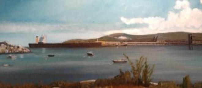 Pintura al óleo sobre lienzo.