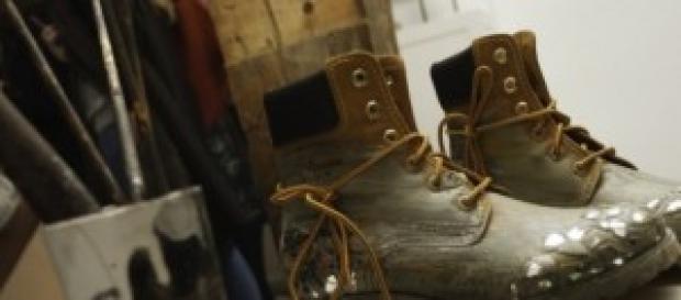 Botas diseñadas para la subasta