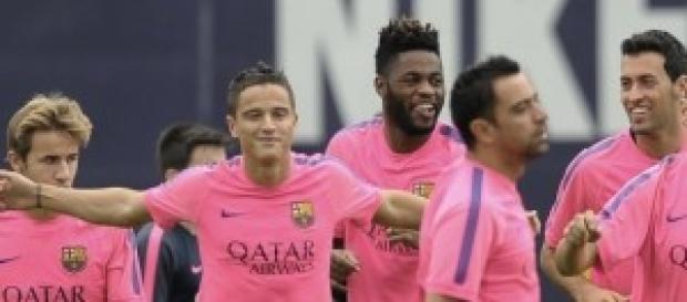 Parte del Barça en un entrenamiento.