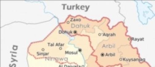 Il territorio degli Yazidi