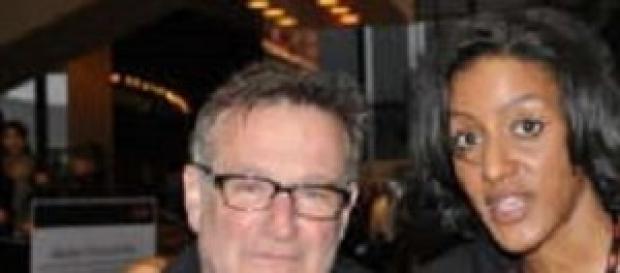 Robin Williams con Sarah Jones