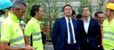 Renzi sui cantieri Expo 2015.