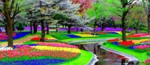 Parque de diversos colores en Inglaterra